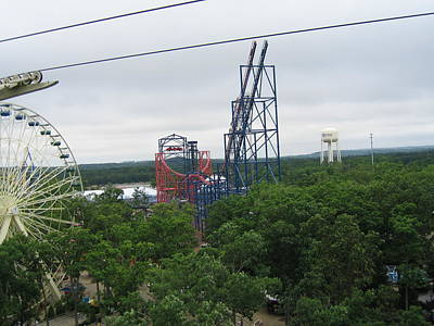 Six Flags Great Adventure - 12122 Art Print by DC Photographer