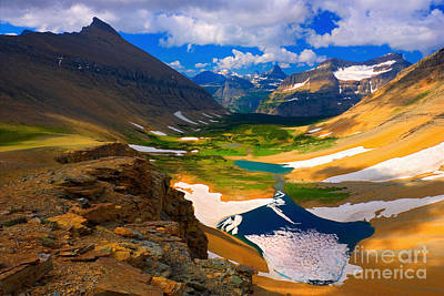 Art Print featuring the photograph Siyeh Pass by Aaron Whittemore