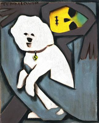 Painting - Skeletor Poodle by Tommervik