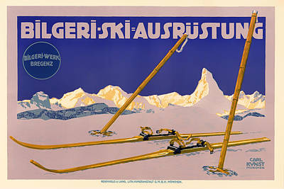 1910s Mixed Media - Ski Austria 1910 by Mountain Dreams