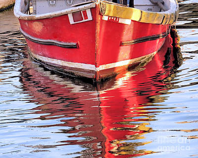 Photograph - Skiff Water Reflections by Janice Drew