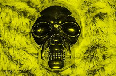 Mixed Media - Skull In Yellow by Rob Hans