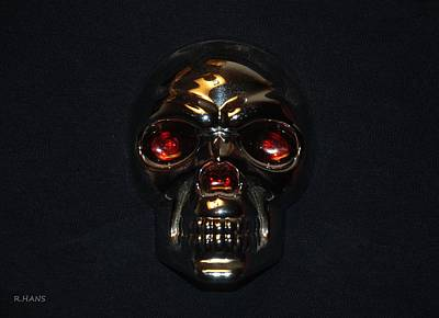 Mixed Media - Skull by Rob Hans