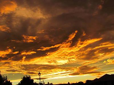 Photograph - Sky On Fire by Joyce Woodhouse