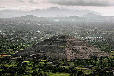 Pyramid Of The Sun Photograph - Sky View Of The Pyramid Of The Sun by Marcos Ferro