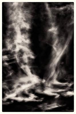 Photograph - Sky Wisps Bw by Lenny Carter