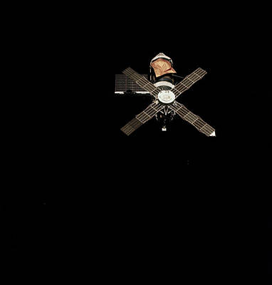 Astronautical Engineering Photograph - Skylab 1 Space Station In Orbit by Nasa