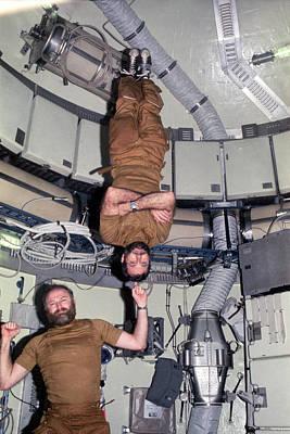 Astronautical Engineering Photograph - Skylab 4 Crew by Nasa