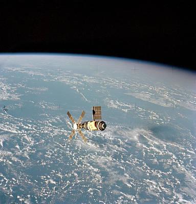 Skylab Space Station In Orbit Art Print by Nasa
