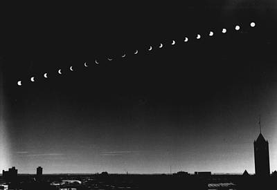 Sky Line Photograph - Skyline Eclipse by Retro Images Archive