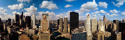 Chicago Il Photograph - Skyline From Lake Michigan, Chicago by Panoramic Images