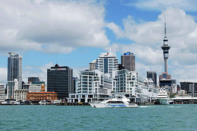 Skyline Of Downtown Auckland, Auckland Art Print