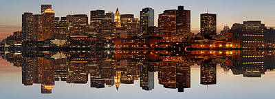 Photograph - Skyline Panorama Of Boston by Juergen Roth