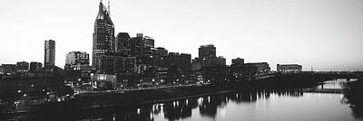 Cumberland River Photograph - Skylines At Dusk, Nashville, Tennessee by Panoramic Images