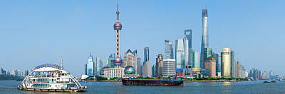 Bund Photograph - Skylines At The Waterfront, Oriental by Panoramic Images