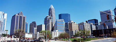 Mecklenburg County Photograph - Skyscrapers In A City, Charlotte by Panoramic Images