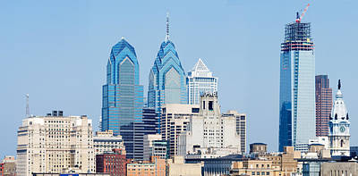 Philadelphia Scene Photograph - Skyscrapers In A City, Philadelphia by Panoramic Images
