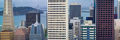 Skyscrapers In The Financial District Art Print by Panoramic Images