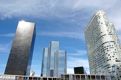 Mirror Photograph - Skyscrapers by Michal Bednarek