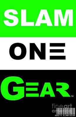 Digital Art - Slam One Gear by James Eye