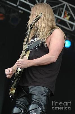 Photograph - Slayer- Jeff Hanneman by Jenny Potter