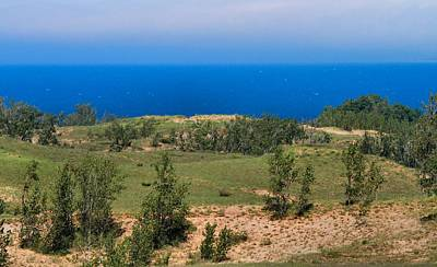 Photograph - Sleeping Bear Dunes Overlook by Dan Sproul