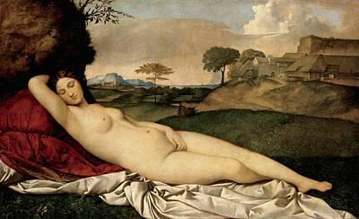 Galerie Painting - Sleeping Venus by Giorgione