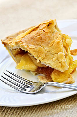 Slice Of Apple Pie Print by Elena Elisseeva