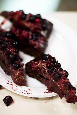 Photograph - Sliced Choc Cherry Cake by Jorgo Photography - Wall Art Gallery