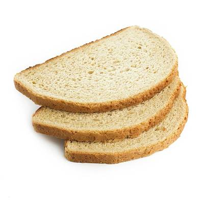 Slices Of Bread Art Print by Science Photo Library