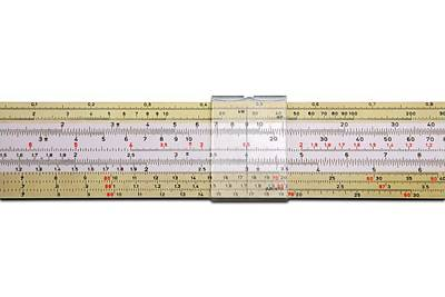 Slide Rule Art Print by Victor De Schwanberg