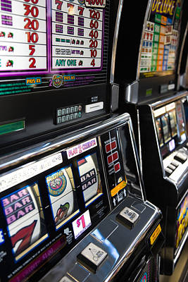 Slot Machines At An Airport, Mccarran Art Print