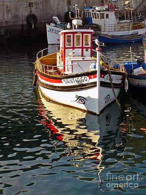 Trawler Photograph - Small Traditional Trawler by Jose Elias - Sofia Pereira