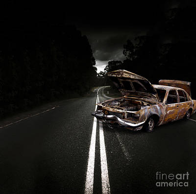 Smashed Up Car Wreck Art Print by Jorgo Photography - Wall Art Gallery
