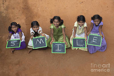 Chalk Boards Photograph - Smile by Tim Gainey