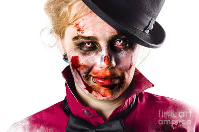 Smiling Zombie Woman Art Print by Jorgo Photography - Wall Art Gallery
