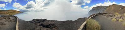 Smoke Erupting Form The Masaya Volcano Art Print by Panoramic Images