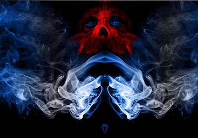 Smoke Photoart Art Print