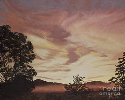 Painting - Smoky Mountain Sunset by Joy Ballack