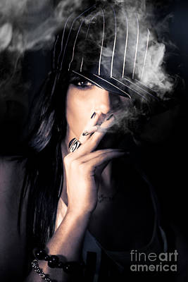 Sneaky Smoke Art Print