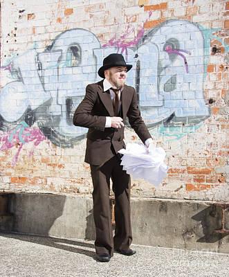 Sniggering Salesman Art Print by Jorgo Photography - Wall Art Gallery