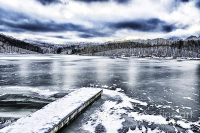 Winter Storm Photograph - Snow Big Ditch Lake by Thomas R Fletcher