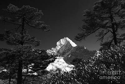 Grimm Fairy Tales Royalty Free Images - Snow Capped Thamsherku Mountain Himalayas Nepal Royalty-Free Image by Dave Porter