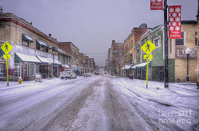 Photograph - Snow Covered High Street In Morgantown by Dan Friend