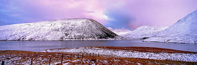 Snow Covered Landscape Reservoir Art Print by Panoramic Images