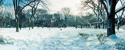 Lower East Side Photograph - Snow Covered Park, Lower East Side by Panoramic Images