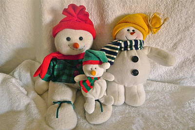 Photograph - Snow Family by Denise Mazzocco