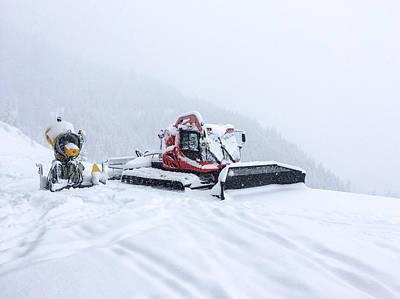 Snow Grooming Equipment Art Print