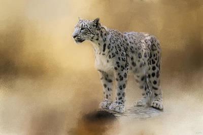 Cat Art Photograph - Snow Leopard by Jai Johnson