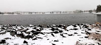 Mannequin Dresses - Snow on the Lake by Eric Martin
